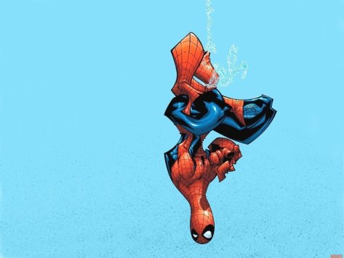 Spider-Man – baby blue