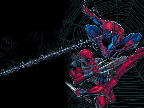 Spider-Man Vs Ninja Spider-man aka Deadpool