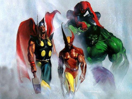 Spider-Man Wolverine Hulk Thor