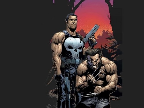 Wolverine with Punisher – forrest