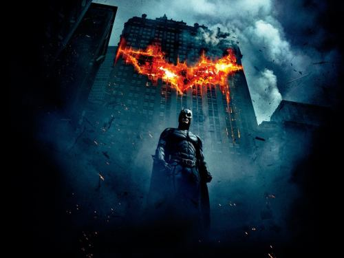 Batman Burning Building