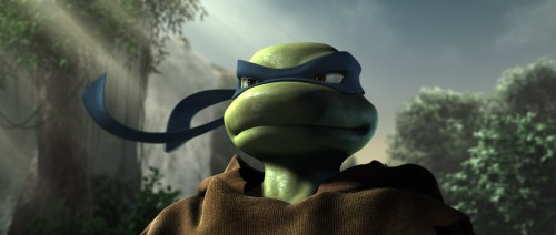 TMNT – leo in the forest