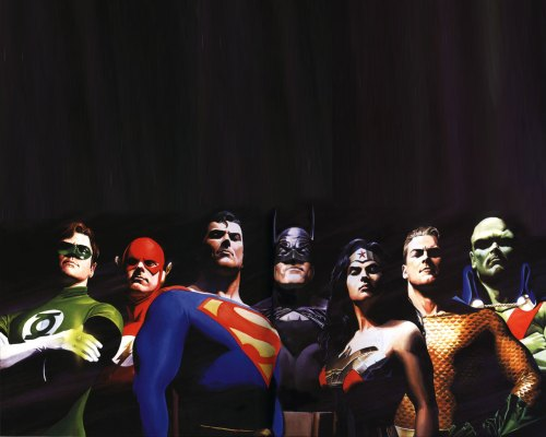 alex ross justice league wallpaper