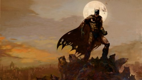 batman and wolves