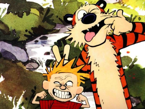 calvin and hobbes funny faces