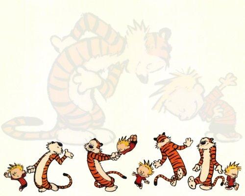 calvine and hobbes dance – wallpaper