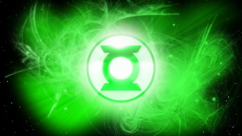 green lantern logo in space