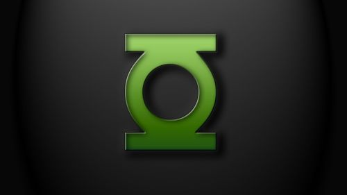 green lantern logo on black