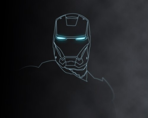 iron man laser sketch