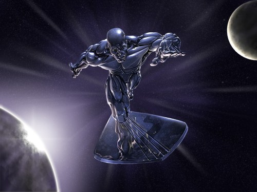 silver surfer in space