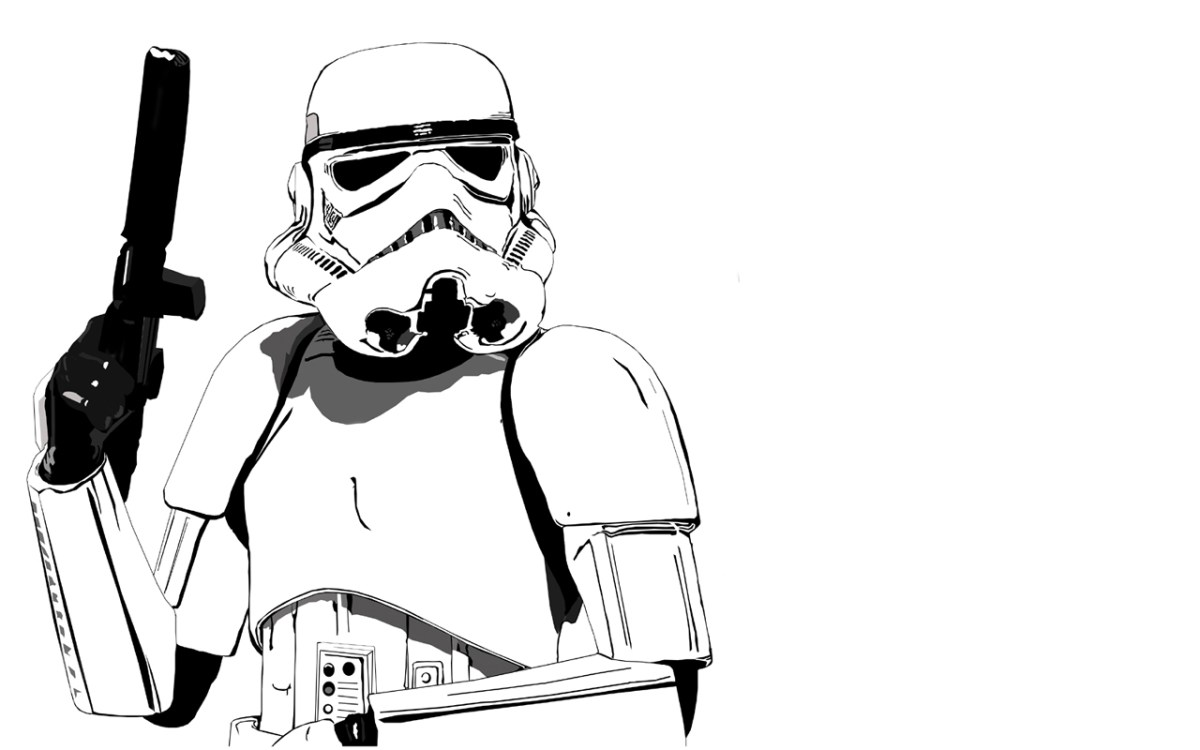 Storm Trooper On White Zoom Comics Daily Comic Book