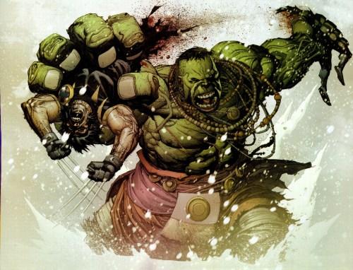 the hulk rips wolverine in half