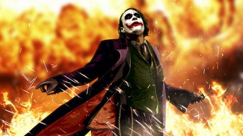 the joker loves fire