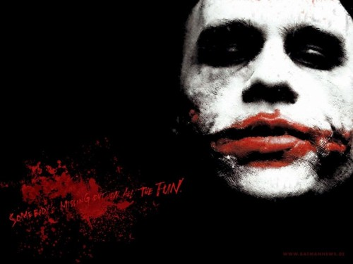 the joker – someones missing out on the fun
