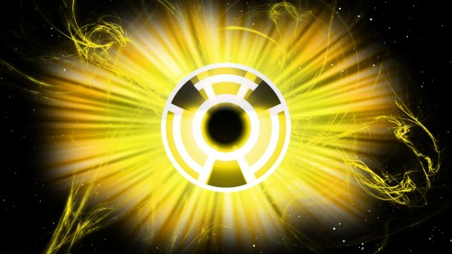 yellow lantern logo in space