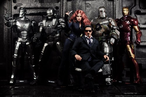 tony stark and his iron man suits