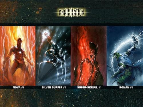 annihilation – nova, silver surfer, super-skrull, ronan