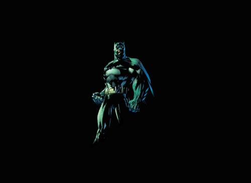 batman is small in black