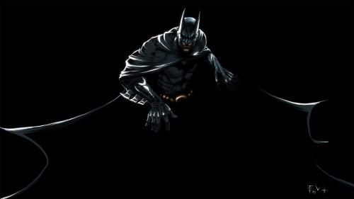 batman spreads his cape