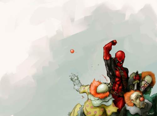 deadpool punchie clowns