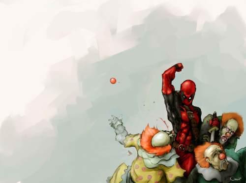 deadpool punchie clowns