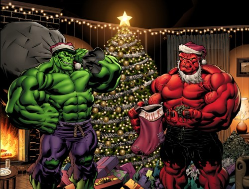hulk is santa