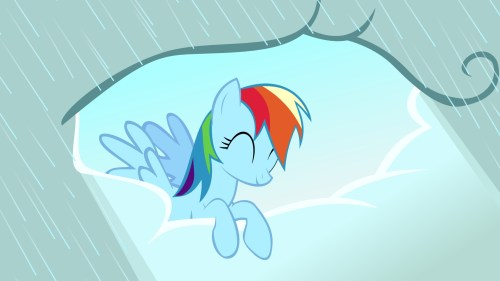 rainbow dash brings the sunshine