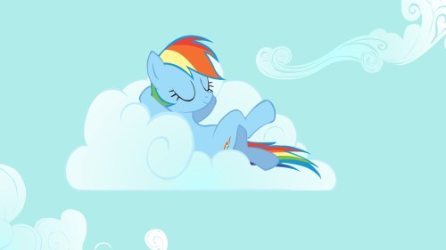 rainbow dash napping in the clouds