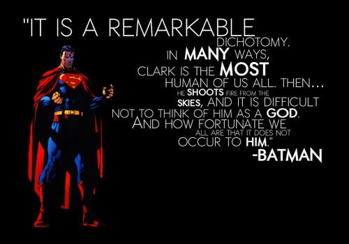 superman is the most human