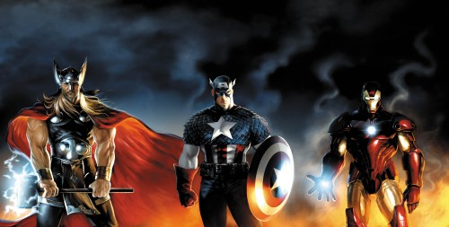 thor, captain america, and iron man