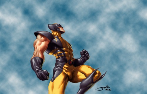 wolverine about to punch the sky