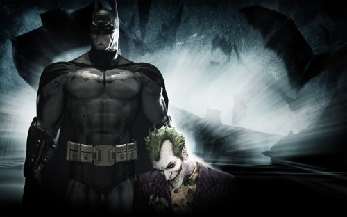 batman holds the joker