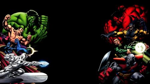 red hulk vs green hulk and friends