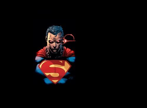 superman has laser eyes