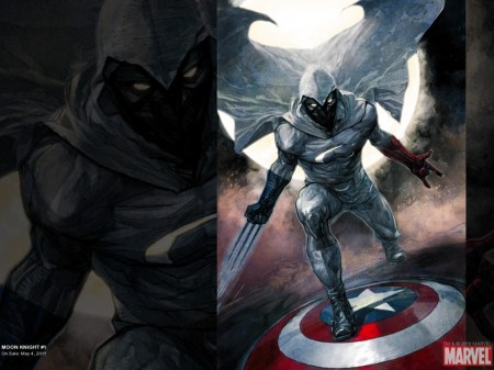 moon knight on captain americas shield