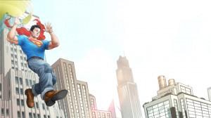 Superboy lands