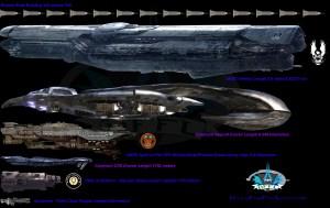 halo ship scale
