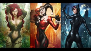 poison ivy, harley quinn, cat woman