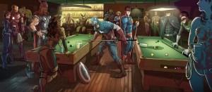 Marvel vs DC Pool Hall