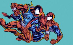 spider-man vs scarlet-spider