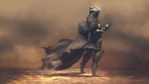 Futuristic Samurai in Smoke