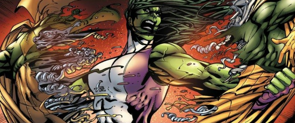 she hulk ripping the vision in half | Zoom Comics