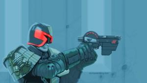 Dredd with a gun