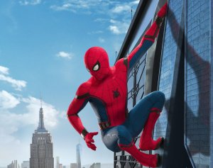 MCU Spider-man on a building