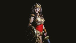 Battle Damaged Wonder Woman Cosplayer