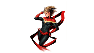 Captain Marvel in the wind