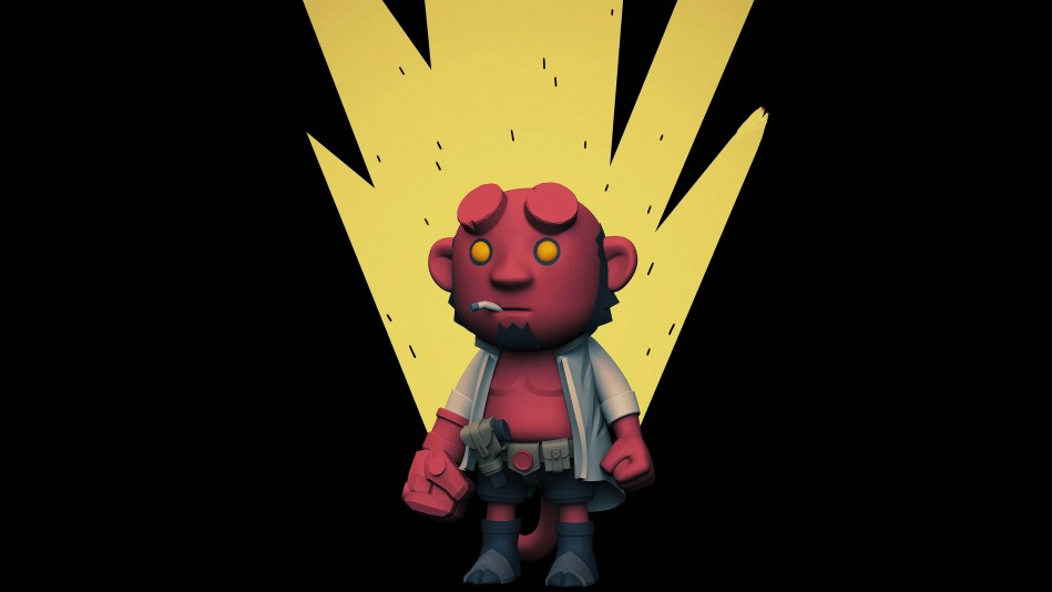 Chibi Hellboy Zoom Comics Daily Comic Book Wallpapers