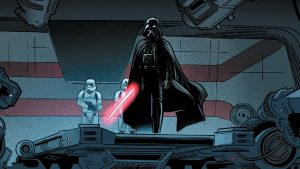 Darth Vader enters