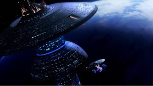 Enterprise D heading to space dock 01