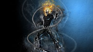 Ghost Rider with a chain